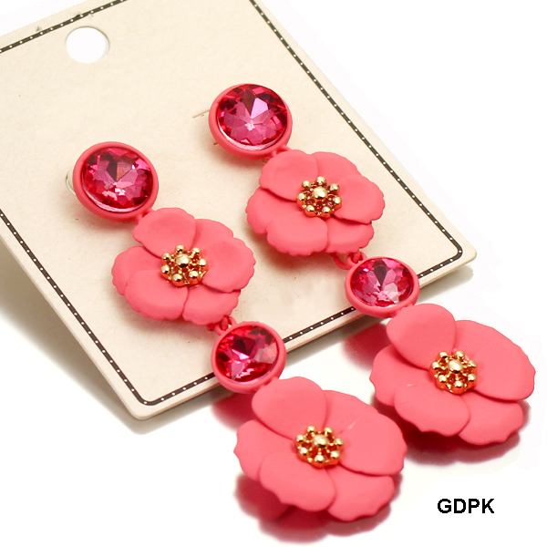 FASHION STONE W FLOWER ER(EF0590-MER4611)