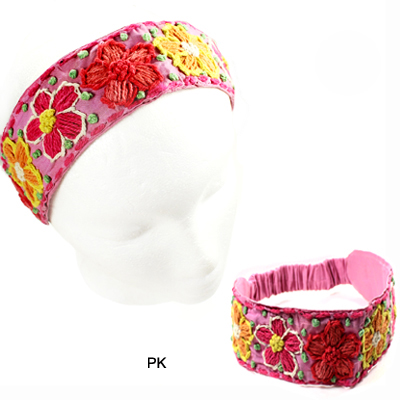 FASHION EMBROIDERY FLOWER H/BAND(HB0020-IH0038)