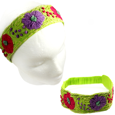 FASHION EMBROIDERY FLOWER H/BAND(HB0023-IH0062)