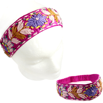 FASHION EMBROIDERY FLOWER H/BAND(HB0024-IH0063)