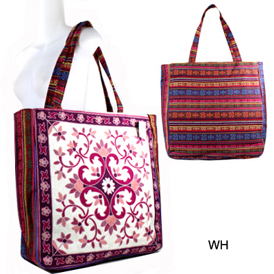 VINTAGE TRIBAL EMBROIDED TOTE BAG(HF0044-FC0017)