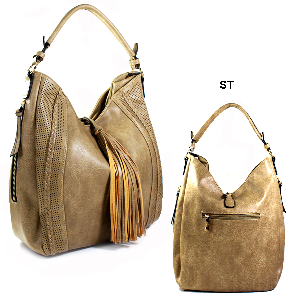 FASHION TASSEL HOBO HANDBAG(HF0135-OF0012)