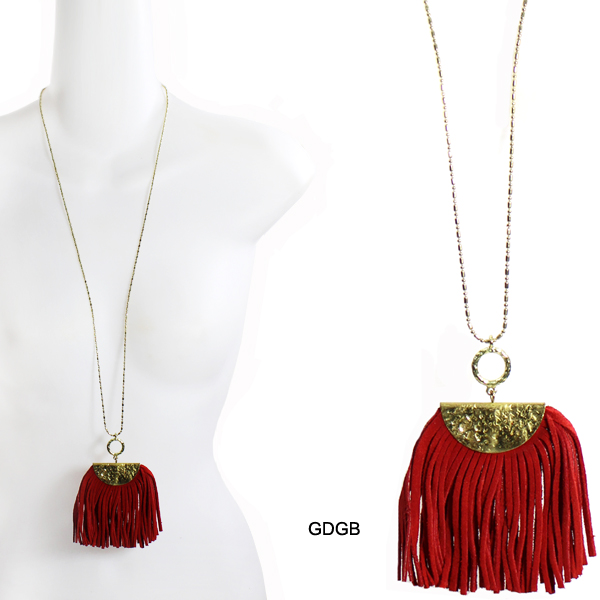 "FASHION LEATHER THREAD TASSEL NK31""(NT0179-AN1588)"