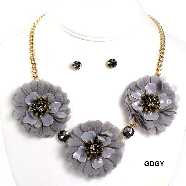 "FASHION FLOWER STATEMENT NK SET18""(NT0546-MNE7103)"