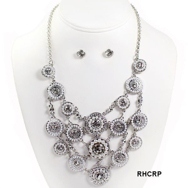 "FASHION PEARL W STONE NK SET17""(NT0559-MNE7231)"