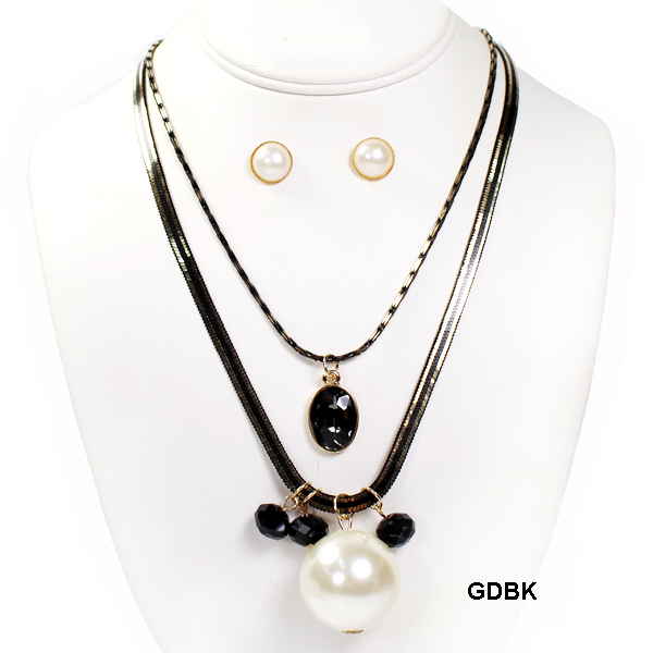 "FASHION LAYER GLASSBEAD NK SET18""(NT0575-MNE6350)"