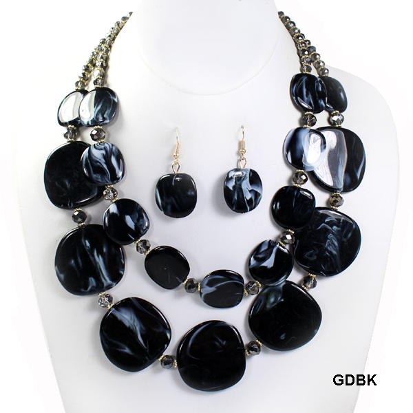 "FASHION LAYER GLASSBEAD NK SET19""(NT0577-MNE6502)"