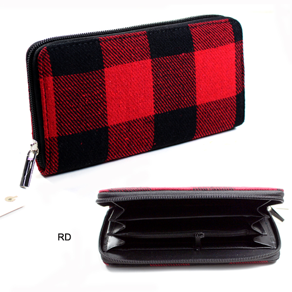 FASHION BUFFALO PLAID WALLET(WH0006-MB0066)
